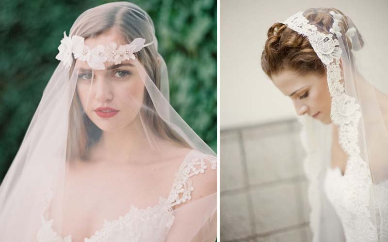 veils bridal hair accessories 2014