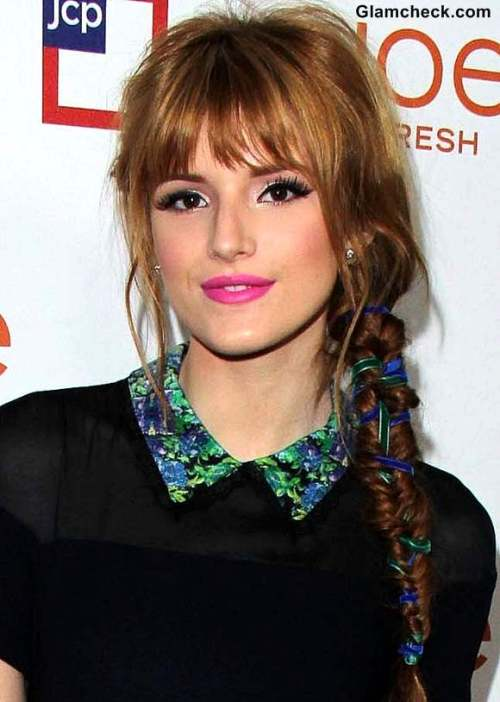 fishtail braids hairstyles with ribbons