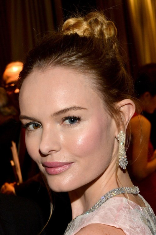 kate bosworth braided bun for medium hairstyles for thin hair 2014