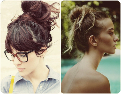 top knots back to school hairstyles 2014
