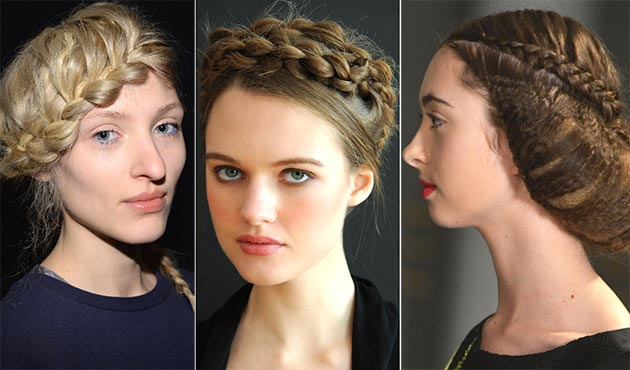 2014 Fall - Winter 2015 braided updo hairstyles