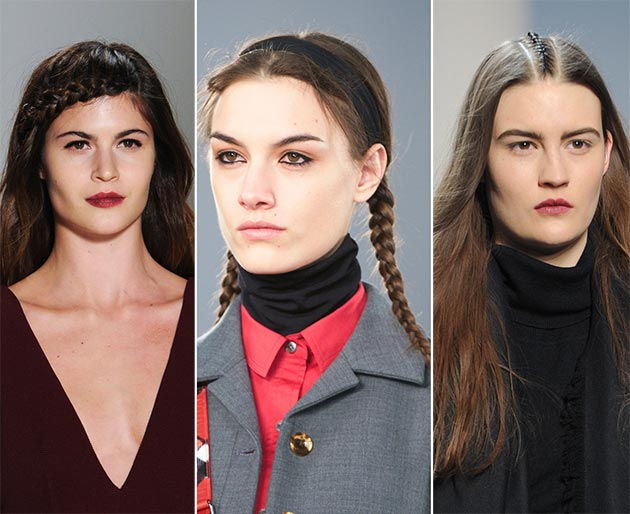 2014 Fall - Winter 2015 braids hairstyles
