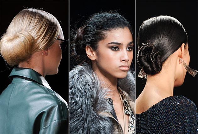 2014 Fall - Winter 2015 buns and knots hairstyles
