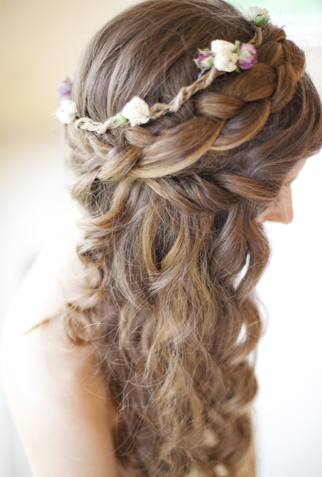 2014 Fall-Winter 2015 long bridal hairstyles