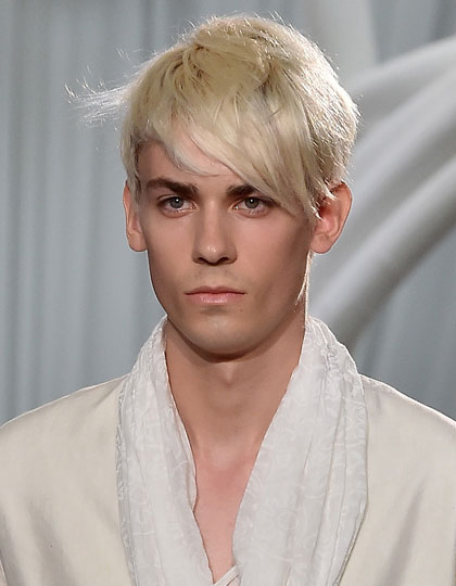 mens hair color trends 2015 - Platinum blonde