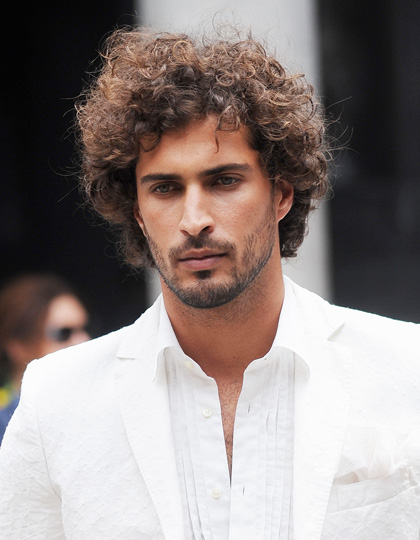 mens hairstyles 2015 curls and neat beard