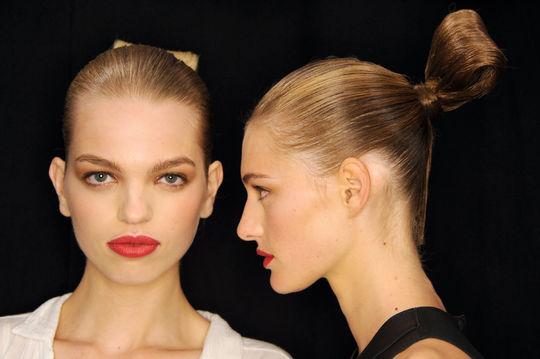 Carolina Herrera NYFW hairstyles 2015 Sumo Knot