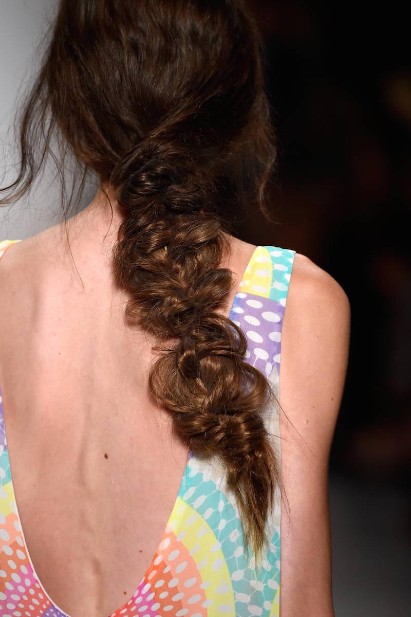 Mara Hoffman Messy Fishtail Hairstyles 2015