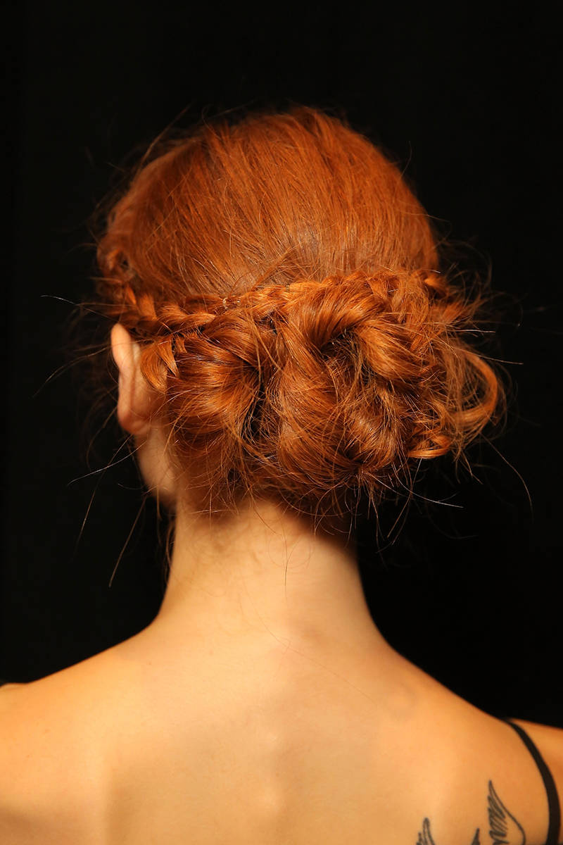 NYFW hairstyles trends 2015 - braids into bun