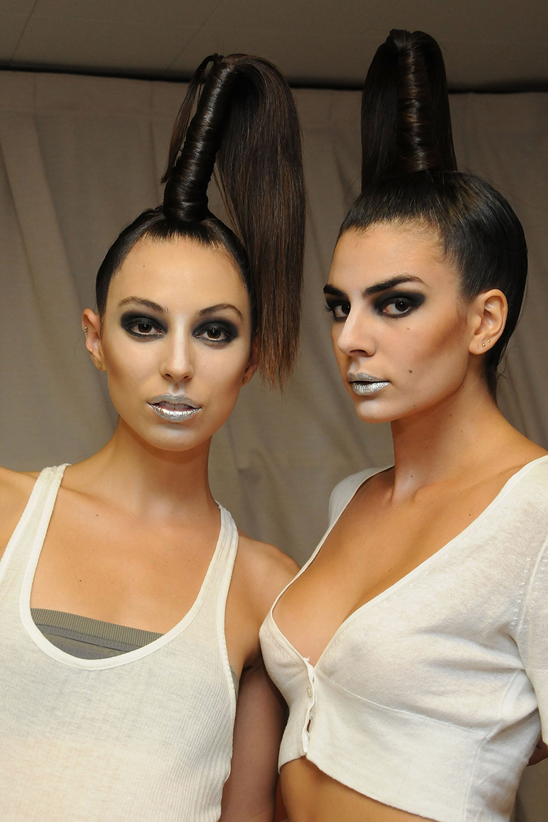NYFW hairstyles trends 2015 - creative top knots