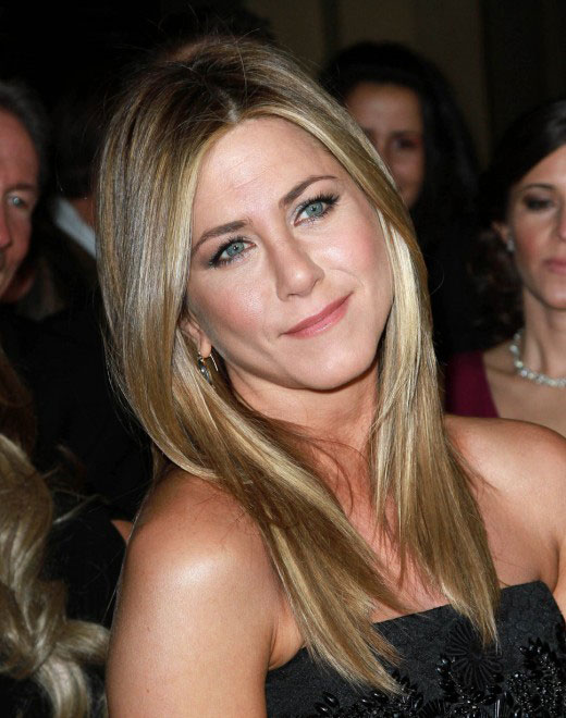 fall 2014 blonde hair color ideas Jennifer Aniston