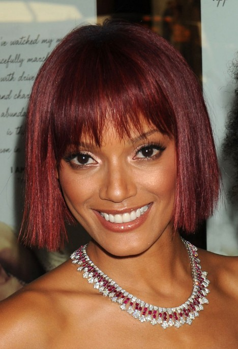 Fall 2014 Red Hair Color Trends For African American Women  Dark Brown Hairs
