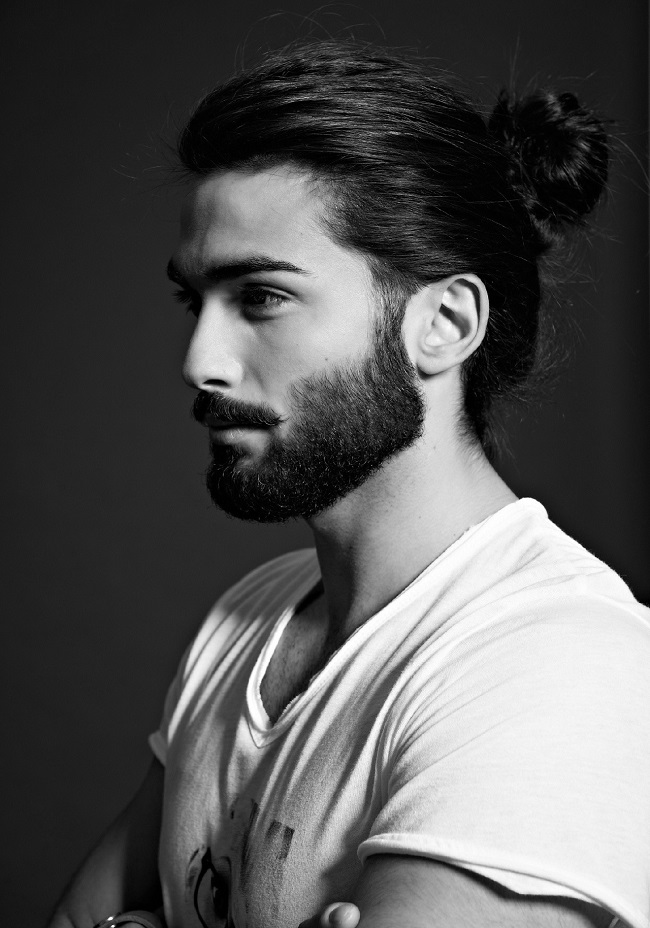 mens hairstyles 2015 - top knot