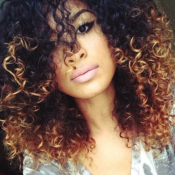 Amazing Ombre Highlights For Natural Curly Hair  Hairstyles 2017 Hair Color