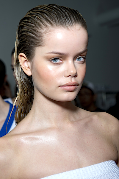 NYFW slicked back hairstyles 2015