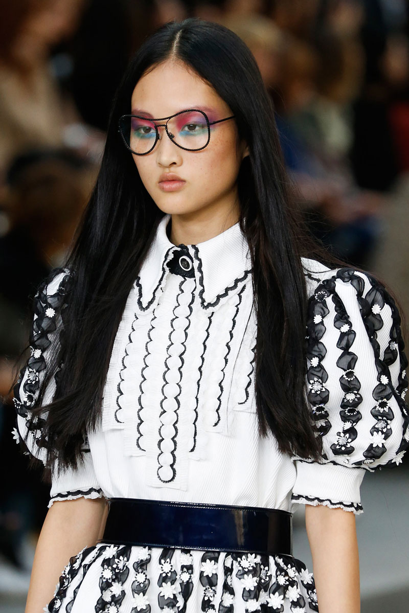 Long Center Parted Hairstyles 2015 From Paris Fashion Week
