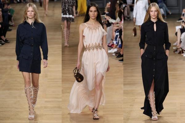 Chloe Long Hairstyles 2015 From Paris Fashion Week