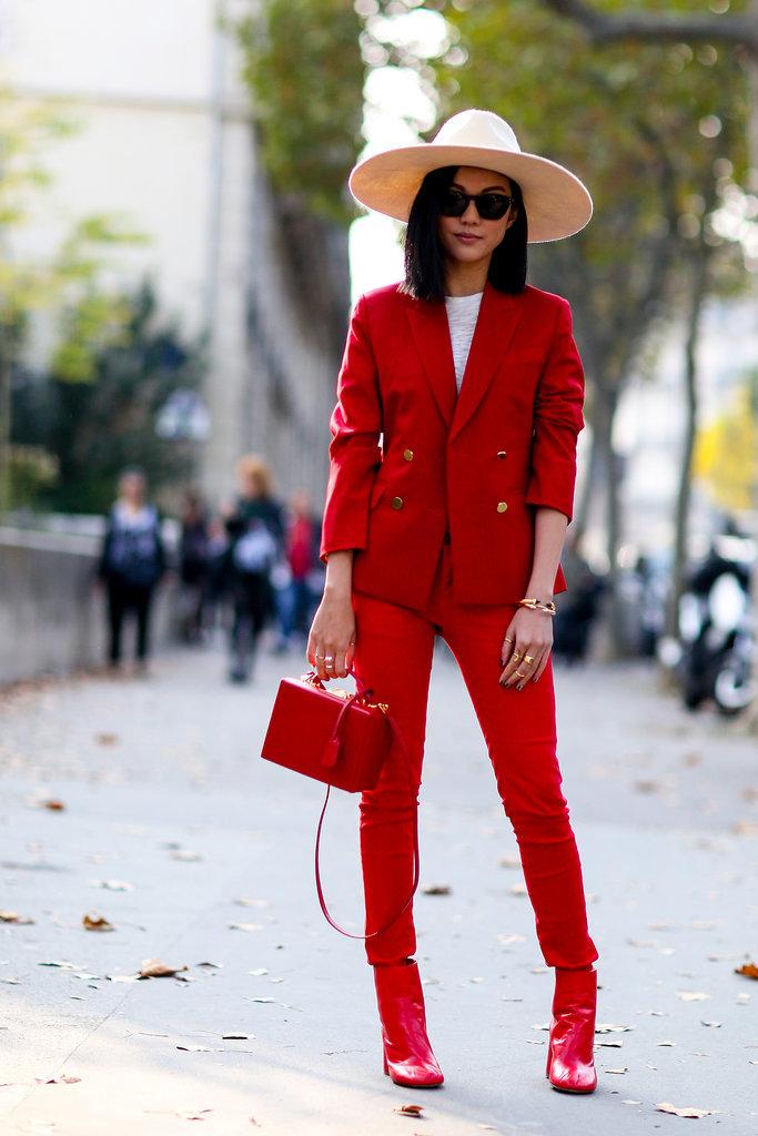 Paris Fashion Week Hairstyles 2015 - Street Style Straight Bob