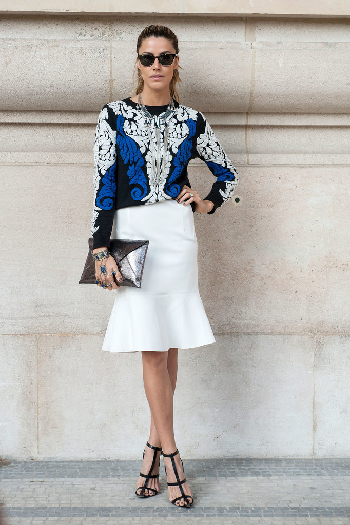 Paris Fashion Week Hairstyles 2015 - Street Style Slicked Back Hair