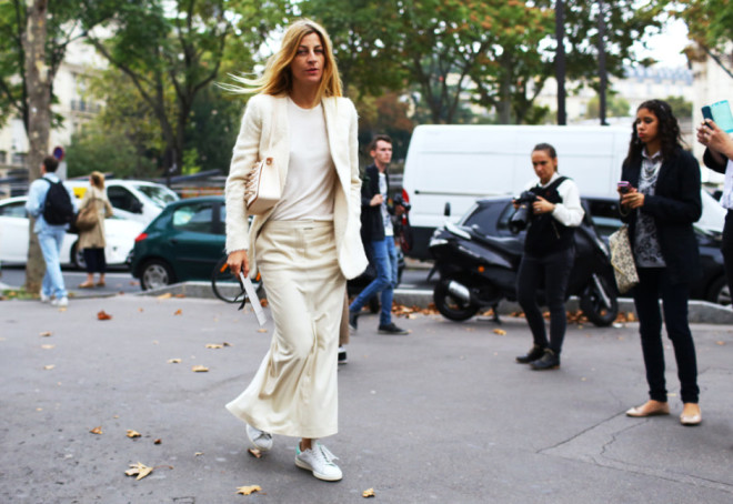 Paris Fashion Week Hairstyles 2015 - Street Style Long Hair