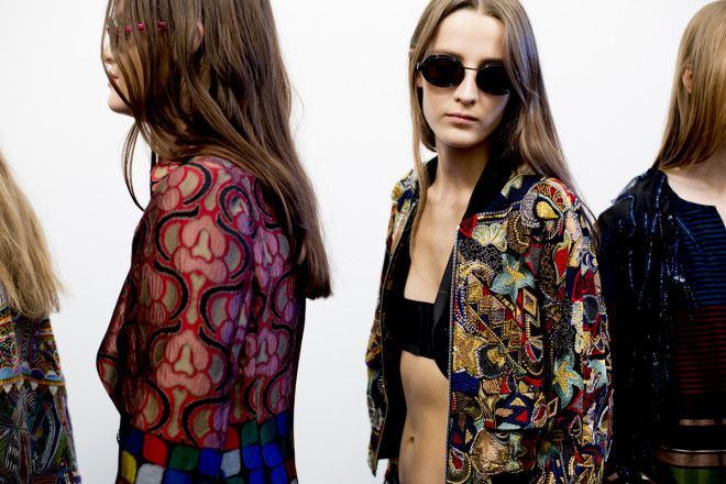 Paris Fashion Week Long Natural Hairstyles 2015