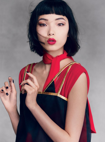 Xiao Wen Ju hairstyles with bangs 2015
