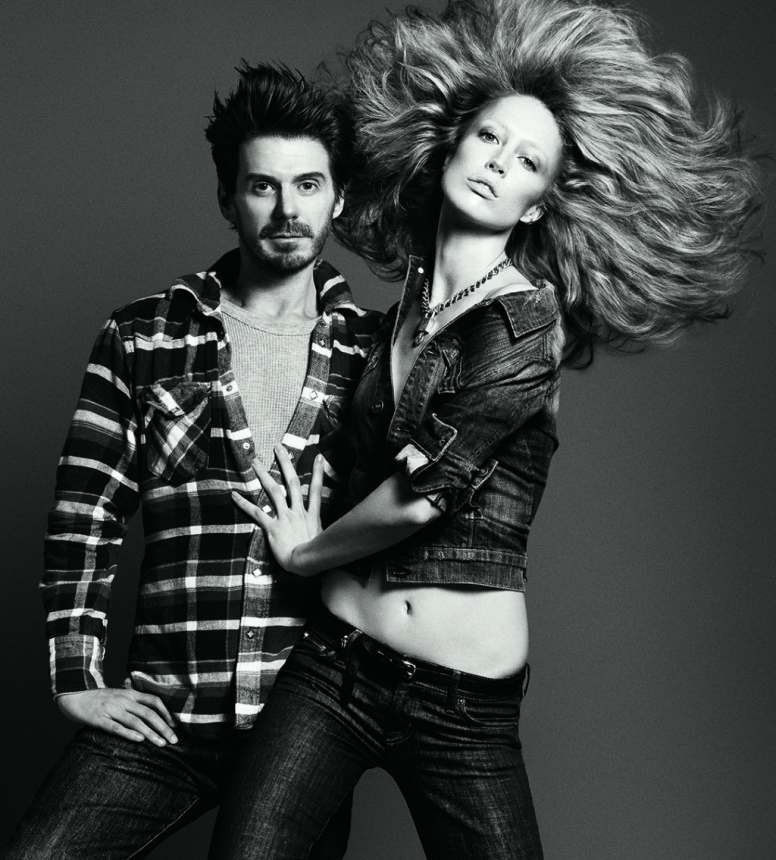 Guido Palau with Raquel Zimmerman - voluminous wavy hairstyles