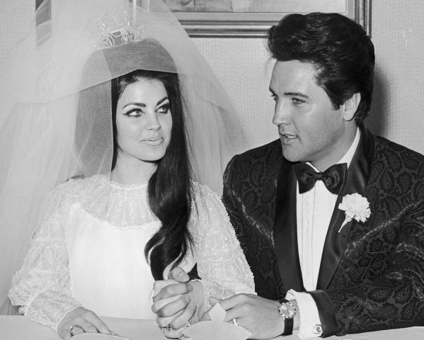 Priscilla and Elvis Presley wedding hairstyles for 2015