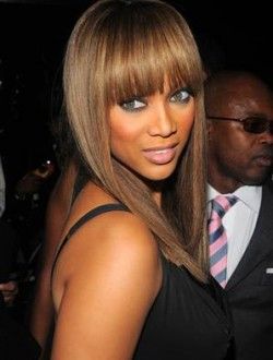 Naomi Campbell bangs hairstyles 2015