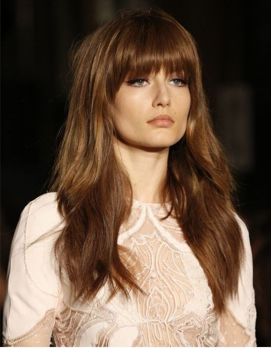 Layered bangs hairstyles 2015