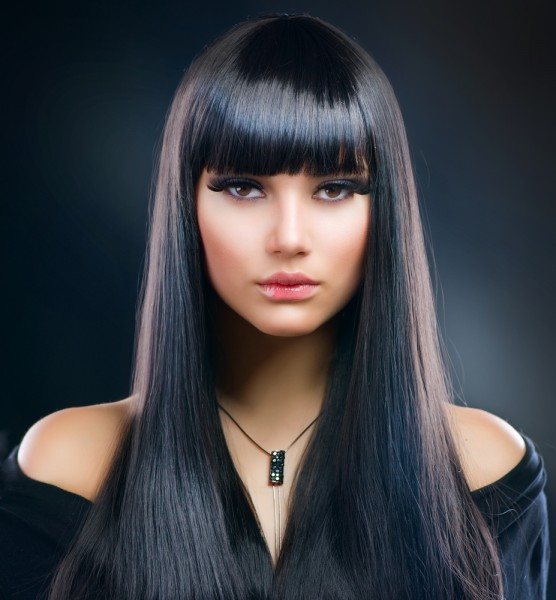 Heavy bangs hairstyles 2015
