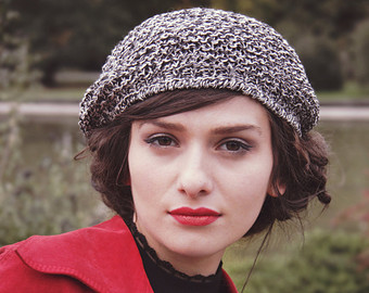 Lovely berets and hairstyles 2015