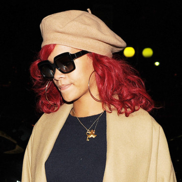 Rihanna berets and hairstyles 2015