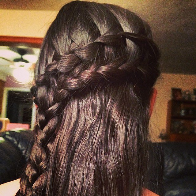 Double waterfall braids hairstyles 2015