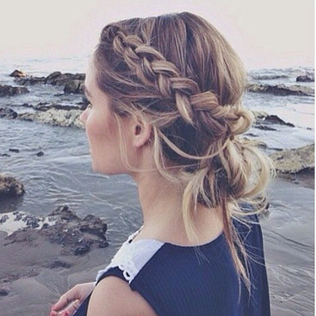 Side French braids hairstyles 2015