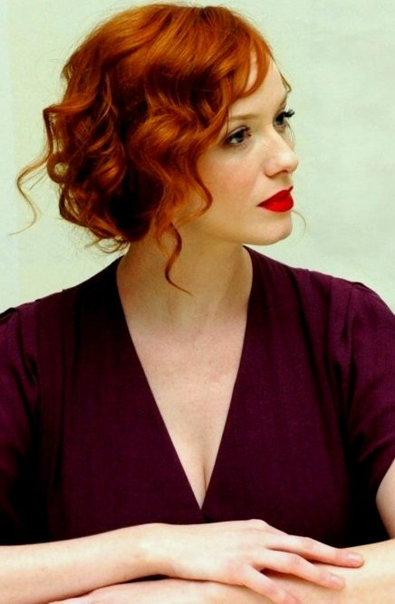 Christina Hendricks hair colors 2015
