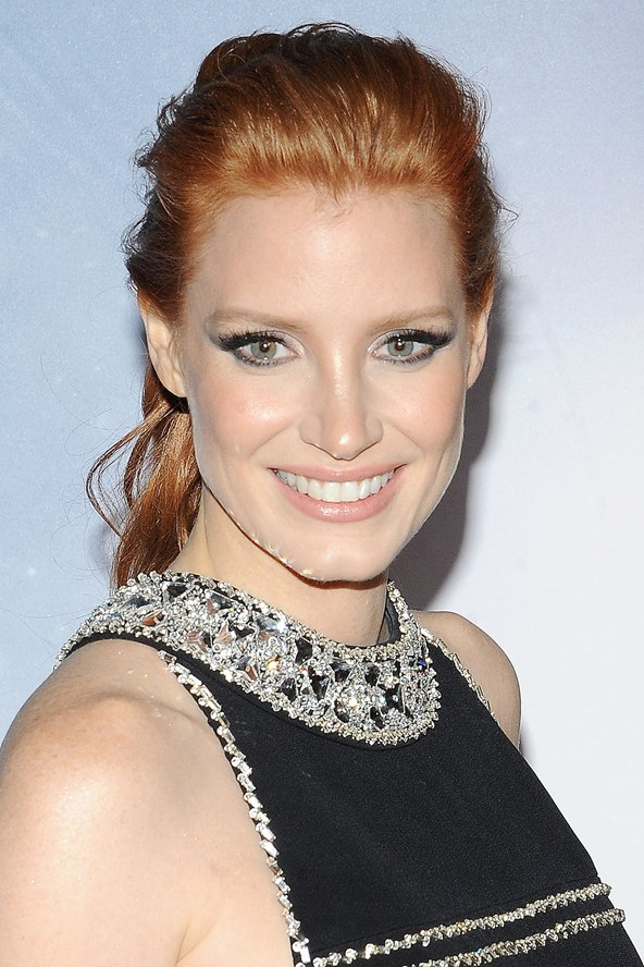 Jessica Chastain red hair colors 2015