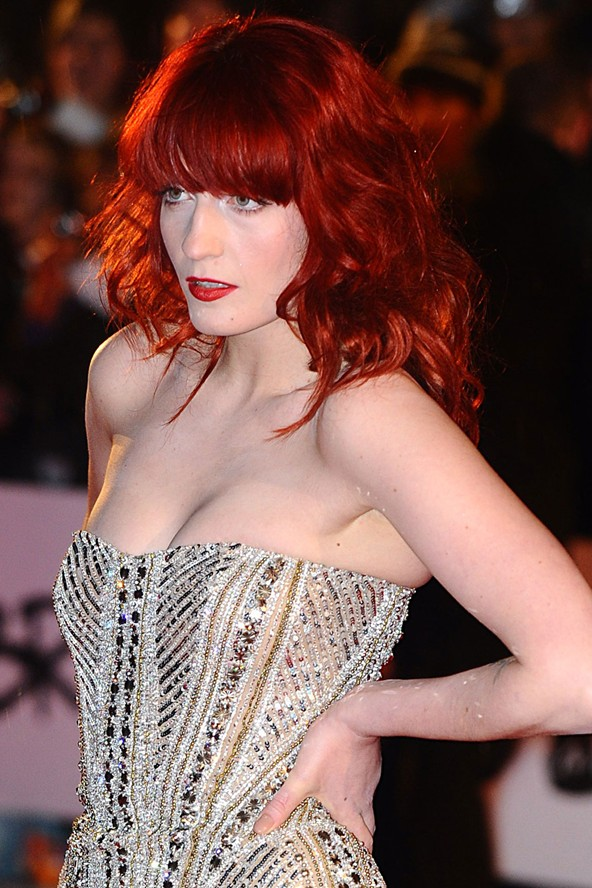 Florence Welch red hair colors 2015