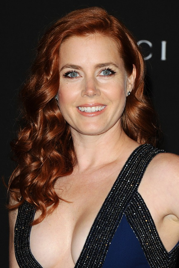 Amy Adams red hair colors 2015