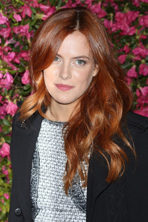 Riley Keough red hair colors 2015