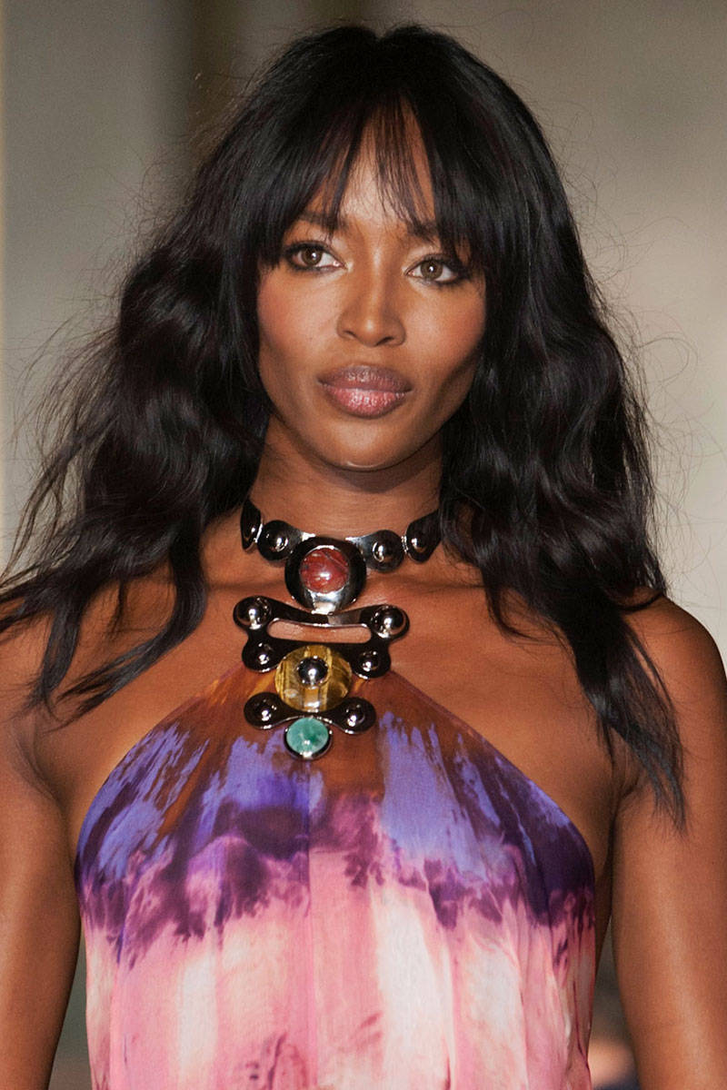 Naomi Campbell boho waves hairstyles 2015
