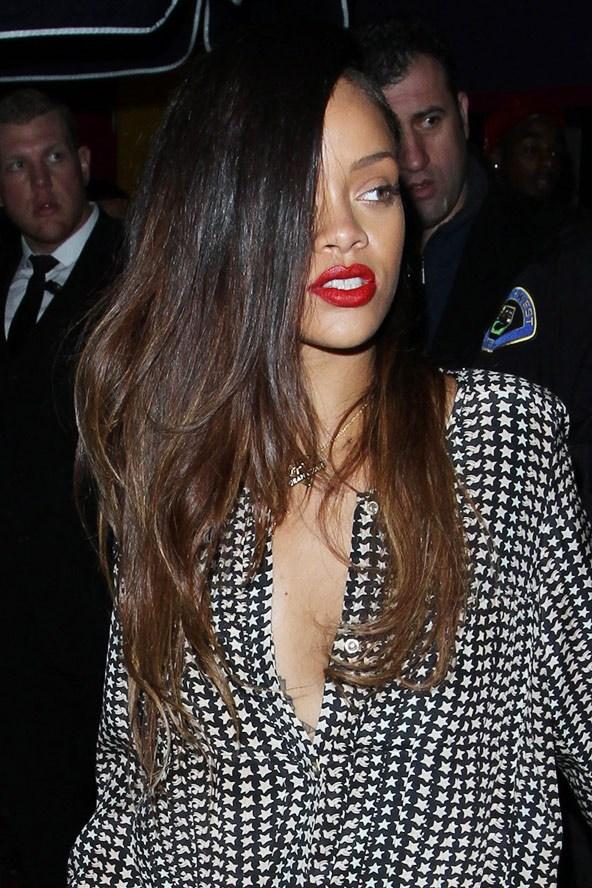 Rihanna brunette hairstyles
