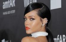 Rihanna glamorous ponytail