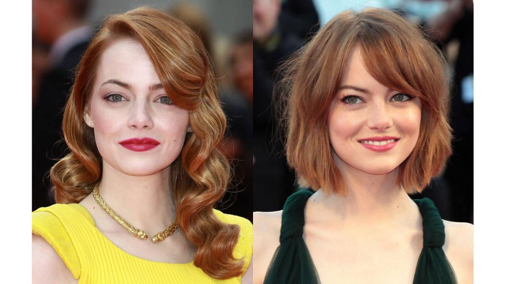 Emma Stone bob haircuts 2014