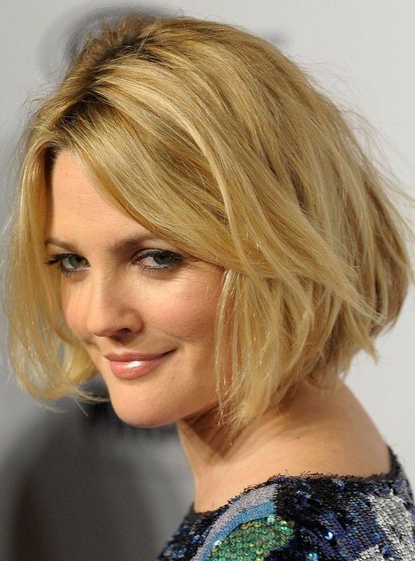 Drew Barrymore bob haircuts 2015