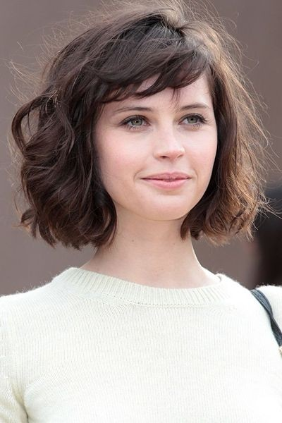 Bob haircut with chinese bangs