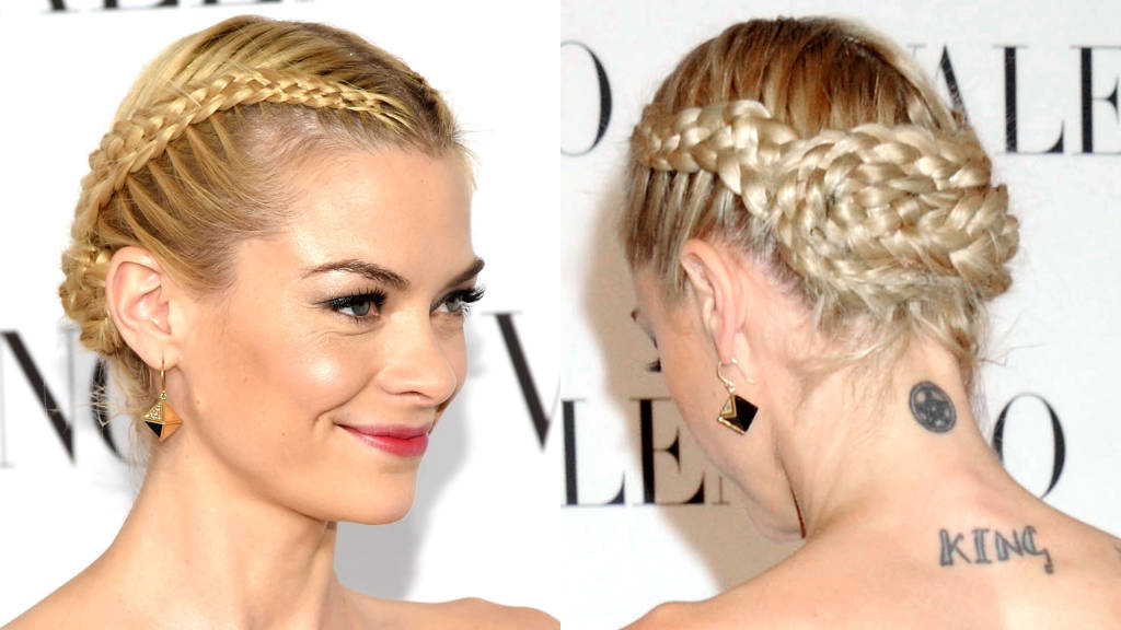 Jaime Kinge braided bun hairstyles 2015