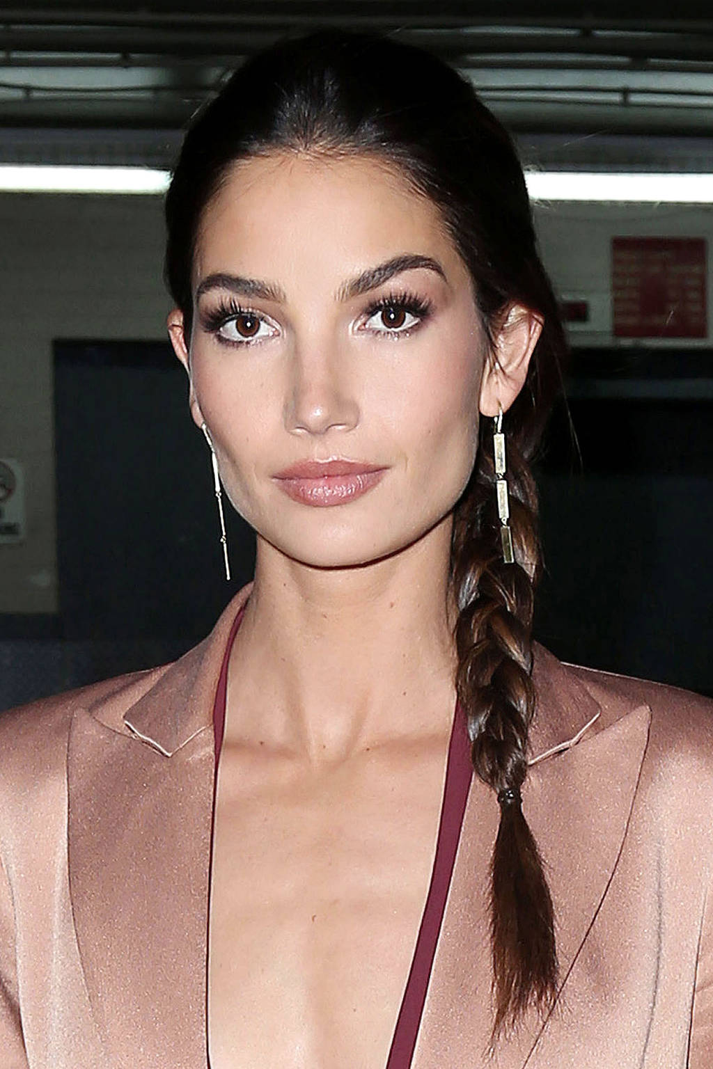 Lily Aldridge side braids 2015