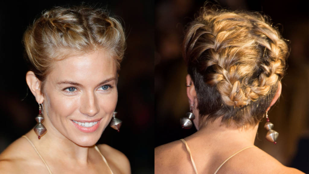 Sianna Miller double  braids hairstyles 2015
