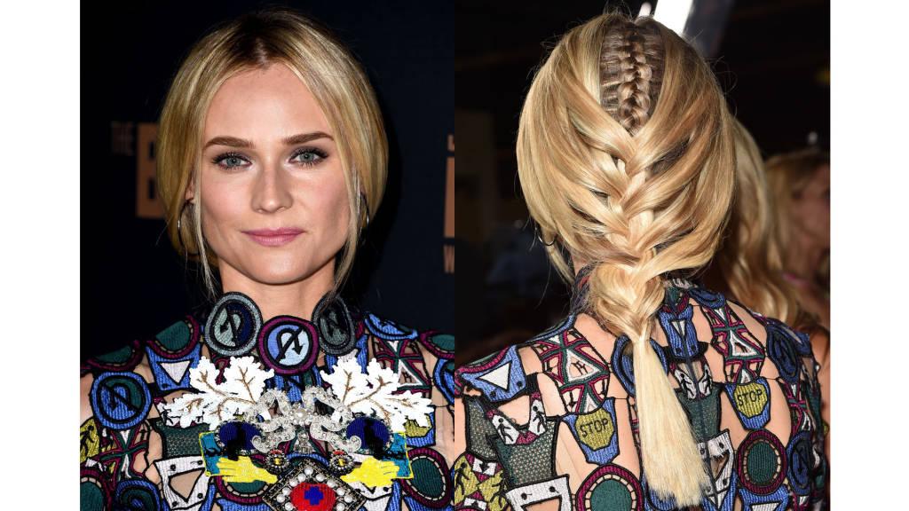 Diane Kruger braids hairstyles 2015
